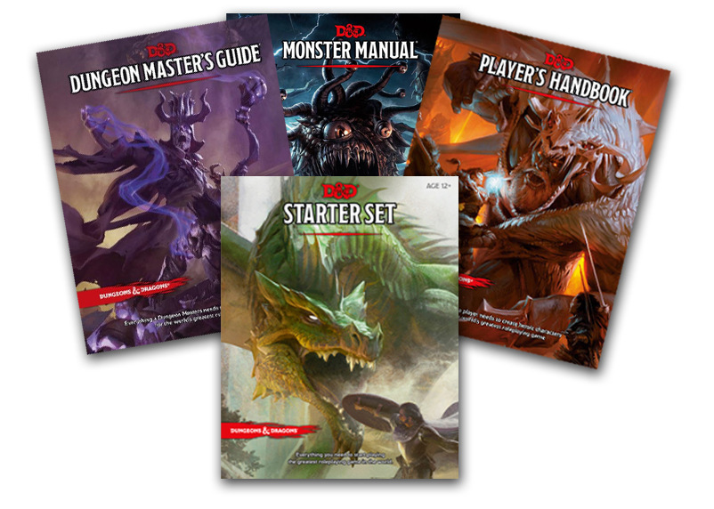 Click on the image to preorder the Dungeons and Dragons 5th edition books and set!